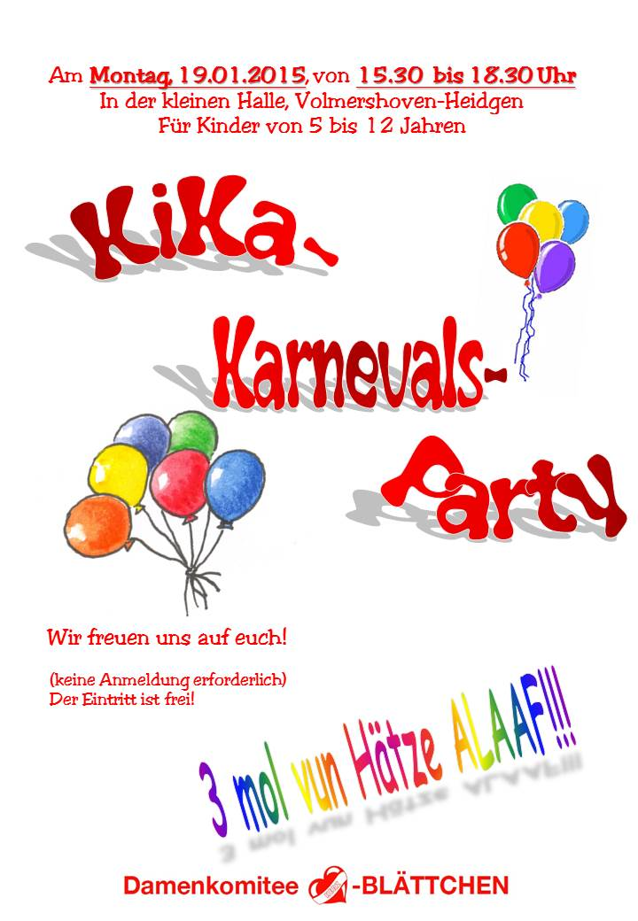 KiKa-Karnevals-Party